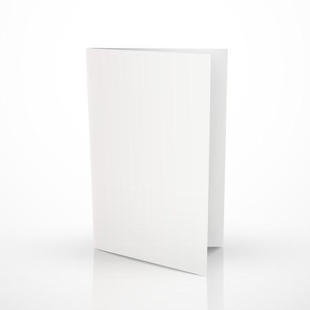 白で隔離フォルダーを空白のパンフレットのデザイン  イラスト・ベクター素材