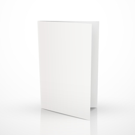 blank folder brochure design isolated on white