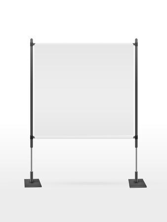 projector screen: schermo del proiettore bianco isolato su sfondo bianco