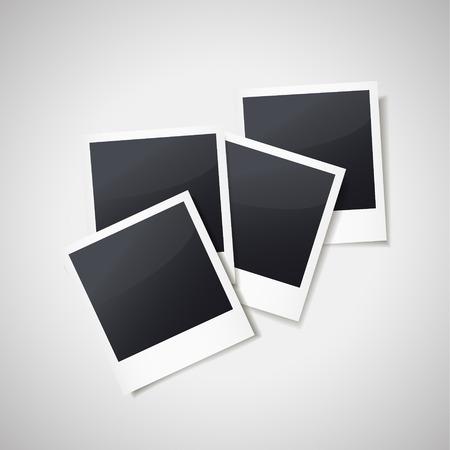 lege fotolijsten geïsoleerd op een witte achtergrond