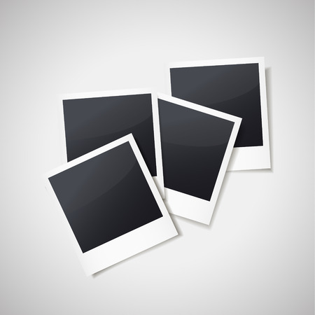 blank photo frames isolated on white background Illustration