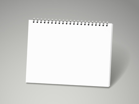 blank note: blank note book isolated on white background