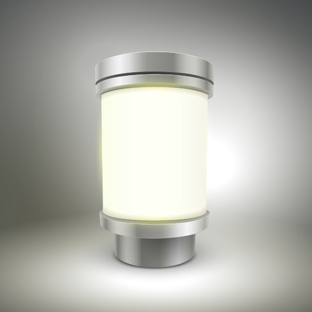 outmoded: futuristic design lamp isolated on grey background Illustration