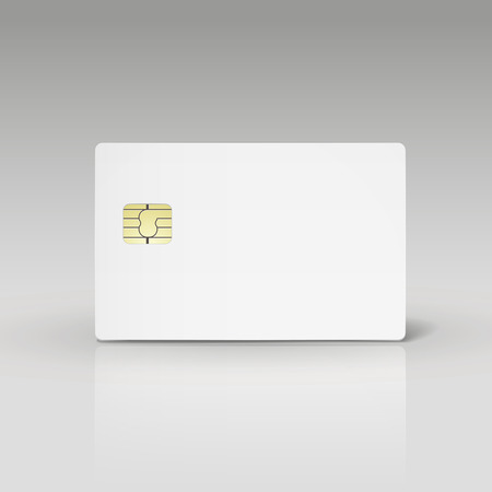 plastic card: white credit card or phone card isolated on white background Illustration
