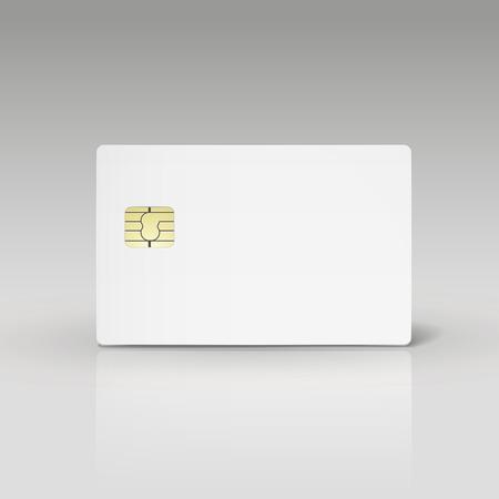 witte creditcard of telefoonkaart geïsoleerd op witte achtergrond Vector Illustratie