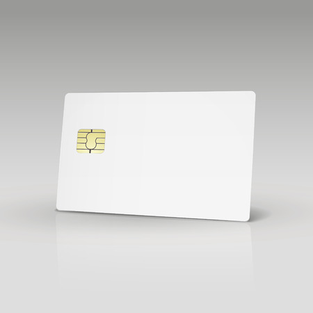 white credit card or phone card isolated on white background 向量圖像