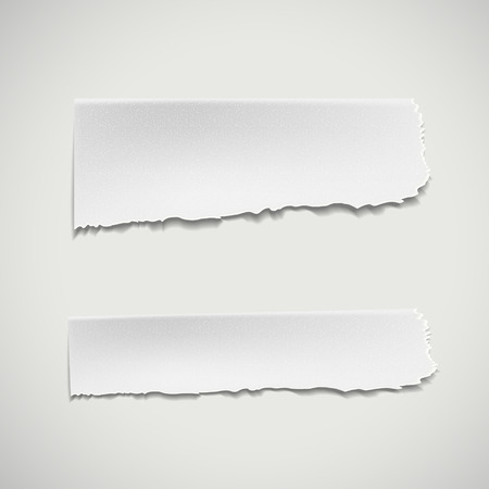 white ripped paper isolated on white background Illustration