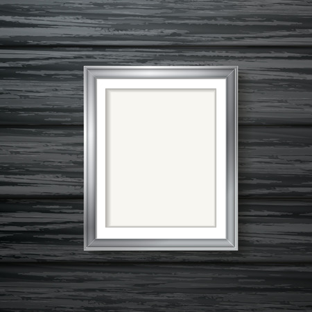 silver framework isolated over dark wooden wall Vector