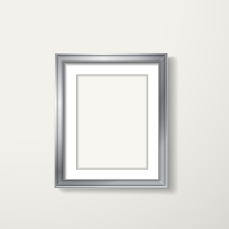 silver framework hanging over the white wall Vector