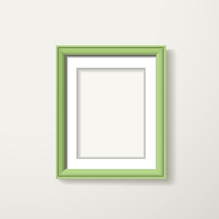 boarder: green framework hanging over the white wall Illustration