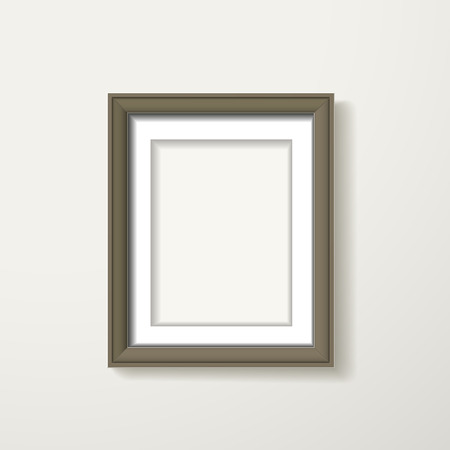brown framework hanging over the white wall Vector
