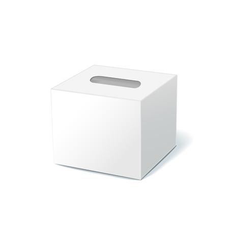 lege tissue doos geïsoleerd op witte achtergrond