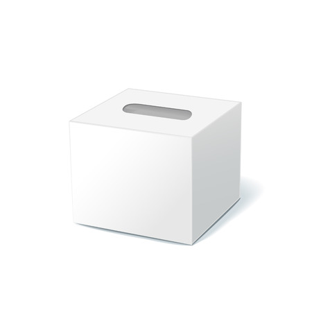 blank tissue box isolated on white background Illustration