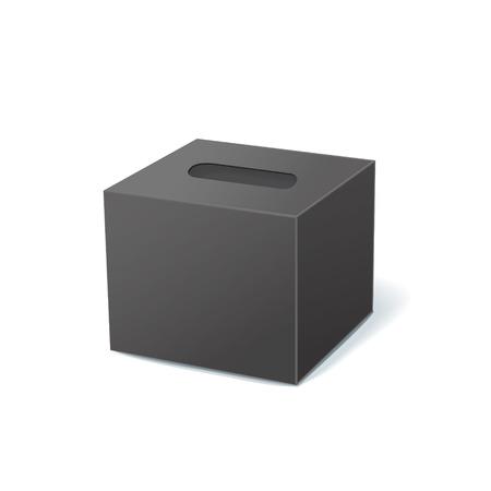 sniff: black tissue box isolated on white background
