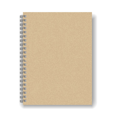 spiral notebook: blank spiral notebook isolated on white background Illustration
