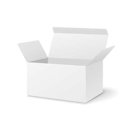 blank open box isolated on white background