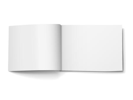 blank magazine: blank open magazine isolated on white background