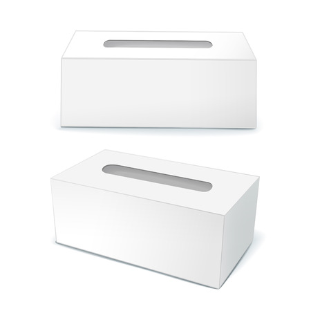 tissue paper: blank tissue boxes isolated on white background