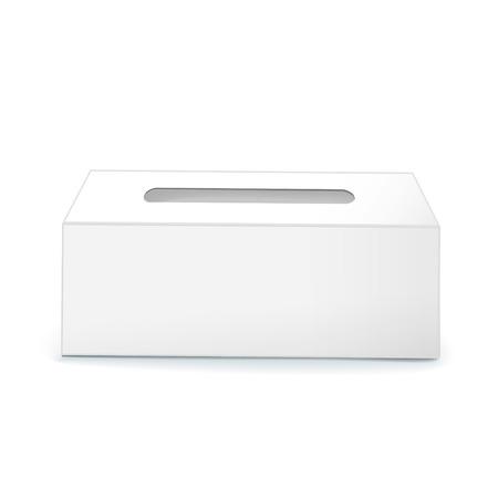 tissue paper: blank tissue box isolated on white background Illustration