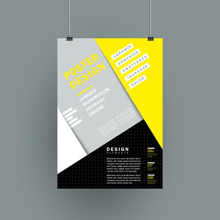 textura papel: moderno cartel textura de papel de color amarillo y gris