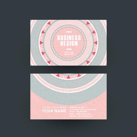 interesting music: modern pink vinyl record design for business card