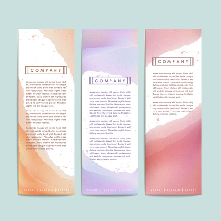 pattern corporate identity orange: abstract hand painted watercolor background for banners set