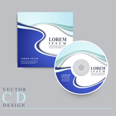 dvd cover: technology style design for CD and cover template in blue Illustration