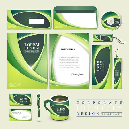緑色のコーポレート ・ アイデンティティの抽象的なエコロジー デザイン