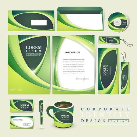 abstract ecology design for corporate identity in green