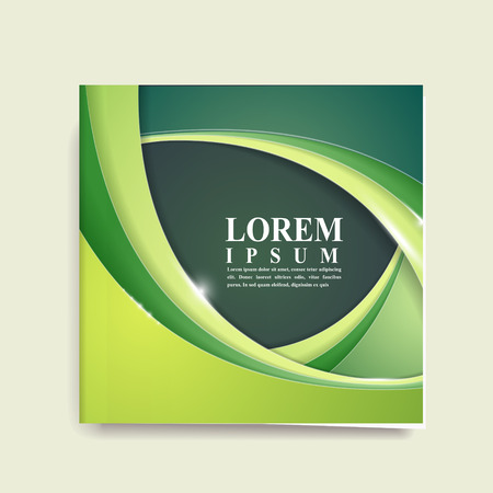 health education: abstract ecology design for book cover in green