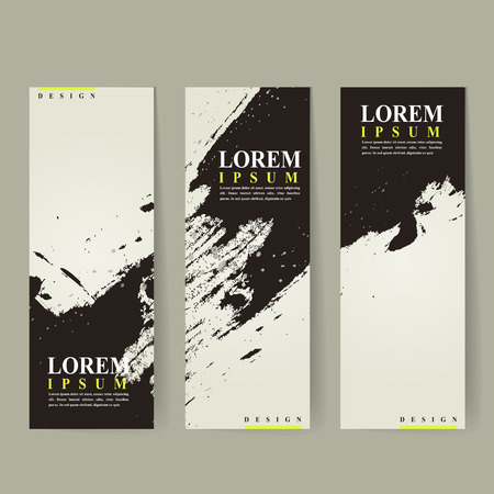 traditional events: abstract Chinese calligraphy design for banners set template