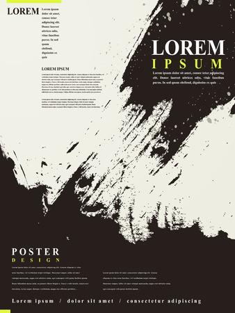 포스터 템플릿 추상적 인 중국 달필 디자인 일러스트