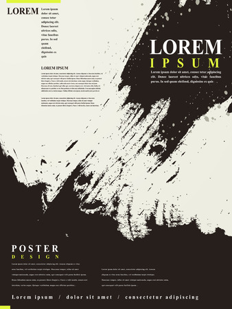 abstract Chinese calligraphy design for poster template