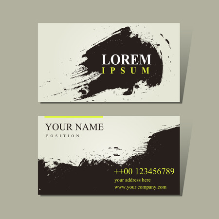 name calling: abstract Chinese calligraphy design for business cards set Illustration