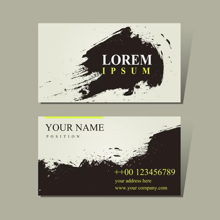 Diseño de la caligrafía china abstracto para tarjetas de visita conjunto Foto de archivo - 32855259