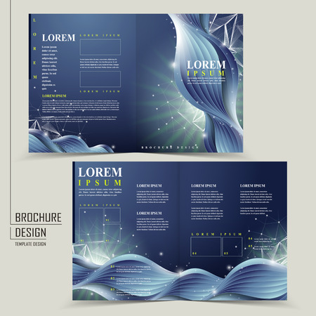 abstract technology background for half-fold brochure template