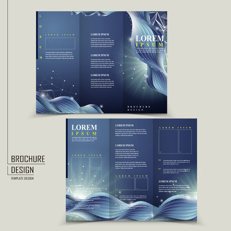 abstract technology background for tri-fold brochure template