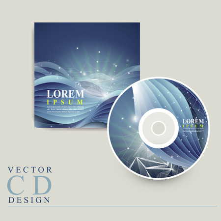 dvd cover: abstract technology background design for CD cover Illustration