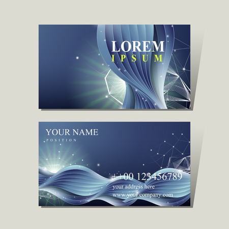 calling art: abstract technology background for business card template Illustration