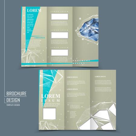 Modern Design For Trifold Brochure Template With Diamond Element - Fold brochure template