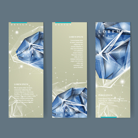 diamond shape: modern design for banners set with diamond element