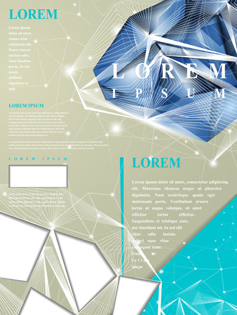modern design for poster template with diamond element
