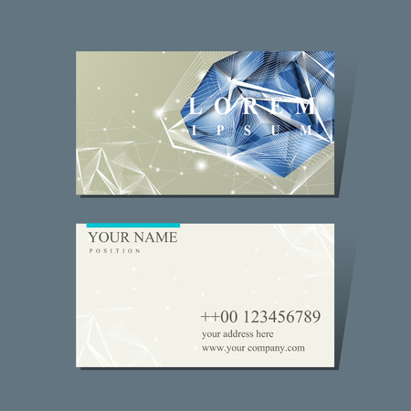 modern design for business card with diamond element
