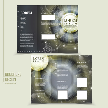 archaeology: abstract Egypt style design for tri-fold brochure template Illustration