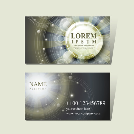 calling art: abstract Egypt style design for business card template