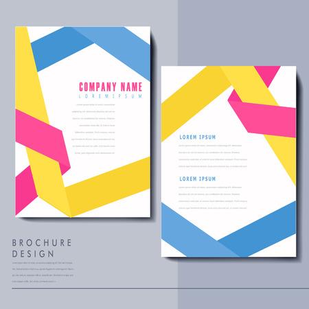 colorful origami folded lines background design for poster Illustration