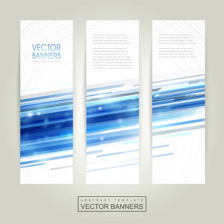 brochure cover: abstract technology background design for banners set template Illustration