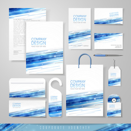 corporate identity: abstract technology background design for corporate identity set