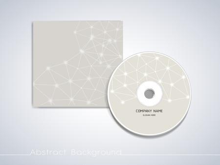 CD カバー テンプレートの柔らかい幾何学的背景デザイン
