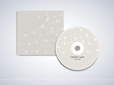 soft geometric background design for CD cover template 向量圖像